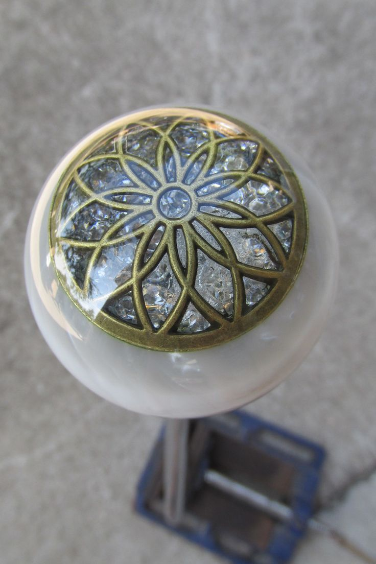Stunning White Pearl Diamonds Shift Knob - HouseOspeed - Hot Rod Shift Knob