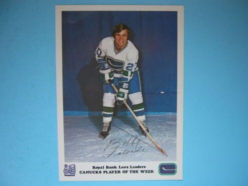 1972-73-ROYAL-BANK-VANCOUVER-CANUCKS-HOCKEY-PHOTO-BOBBY-LALONDE-NICE-72-73
