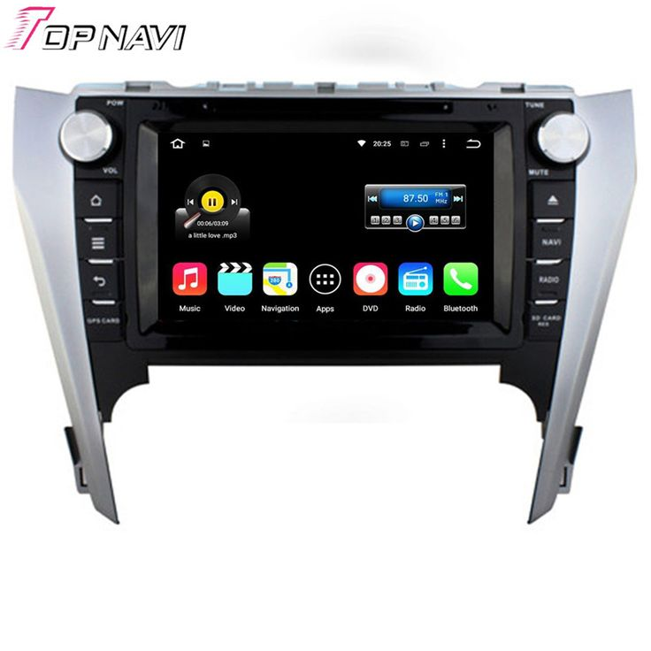 Top 8'' Quad Core Android 5.1.1 Car GPS For Toyota Camry 2012 With Radio Free Map DVD Stereo Audio Video Wifi BT Free Shipping