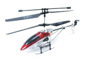 Gyro Alloy Shark RC Helicopter with Auto Stabilization by CNC Toys. $24.99. Gyro Auto Stabilizer Installed; Alloy Airframe; Very Durable; 3 Channel; Indoor or Outdoor Helicopter. o Gyro Shark introduces the most durable and stable mid-size helicopter on the market  o Remote helicopter features a 3-channel function  o Cool toy has built-in Gyro stabilization for no hands  o Helicopter has a durable metal frame, tail boom and landing gear  o Flies forward, backward, l...