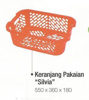 Selatan Jaya distributor barang plastik Surabaya: Keranjang pakaian plastik tipe silvia produk DS