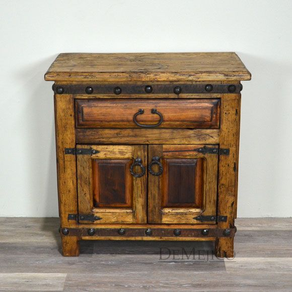 The Old Wood Alamo Spanish style nightstands are built from old wood. With single drawer & 314 best Furniture: Spanish \u0026 Southwestern images on Pinterest ... Pezcame.Com