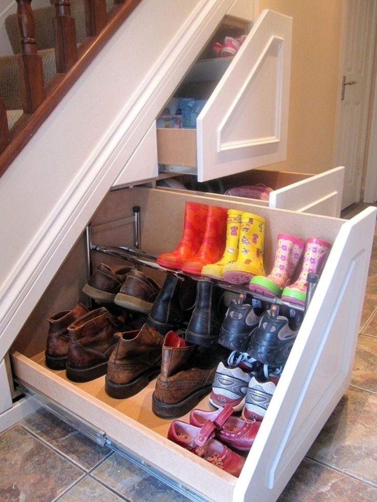 Under the Stairs Shoe Rack Ideas