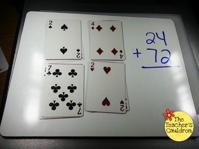 Quick math game! Could also use for multiplication!