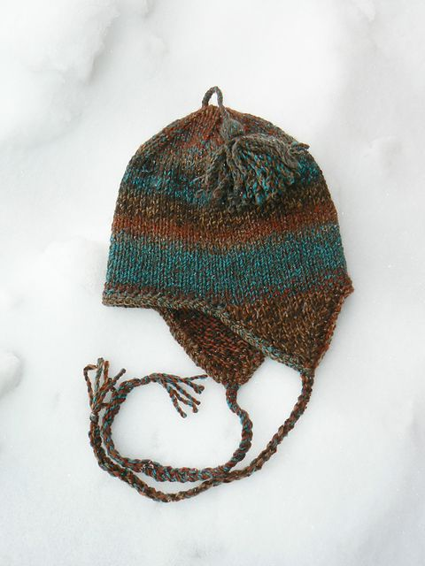 Ravelry Free Very Basic Bulky Ear Flap Hat Pattern By