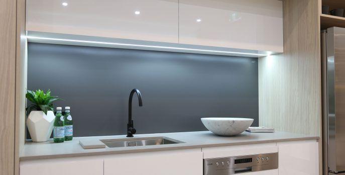 Kitchen White Glass Splashback Kitchen Splashbacks Glass Printed