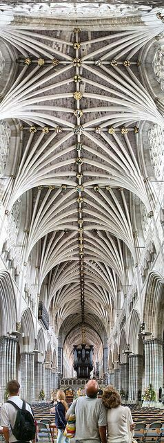 Exeter Cathedral, formally known as the Cathedral Church of Saint Peter at Exeter, is an Anglican cathedral, and the seat of the Bishop of Exeter, in the city of Exeter, Devon, in South West England.