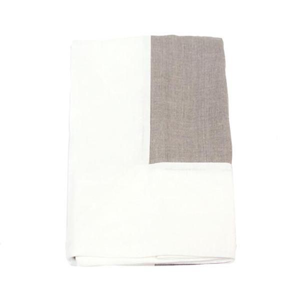 "Linen Way 'Serenite' 67x110"" Tablecloth, Natural/White – HOPSON GRACE"