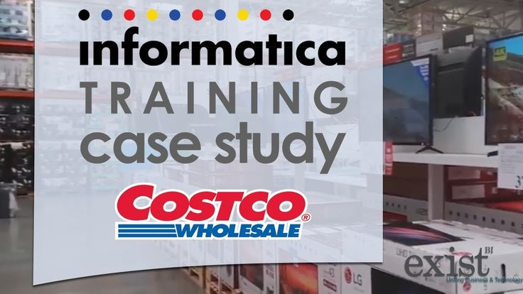 Informatica Training Case Study : Costco https://youtu.be/utdxC40Q0O4 Welcome to ExistBi's Informatica Training case study for Costco. Our client Costco Wholesale Corporation is the second largest retailer in the US behind Walmart with 488 warehouses in the US alone. Costco collects mountains of data every day and stores customer information in systems that span sales marketing operations logistics accounting and other areas. Costco decided to employ Informatica as one solution to big data…