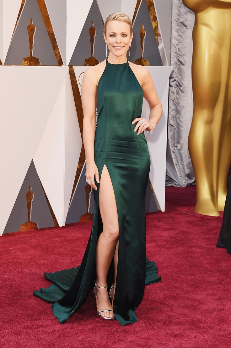 Rachel McAdams flashed a little leg thanks to a thigh-high slit in her August Getty Atelier dress.
