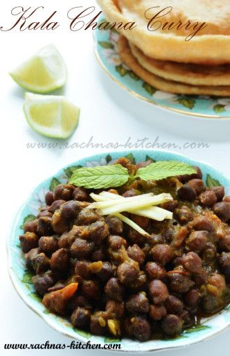 how to make black chana curry