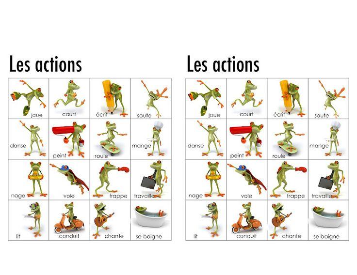 Populaire les verbes, dictionnaire en images | French Immersion Teacher  YW06