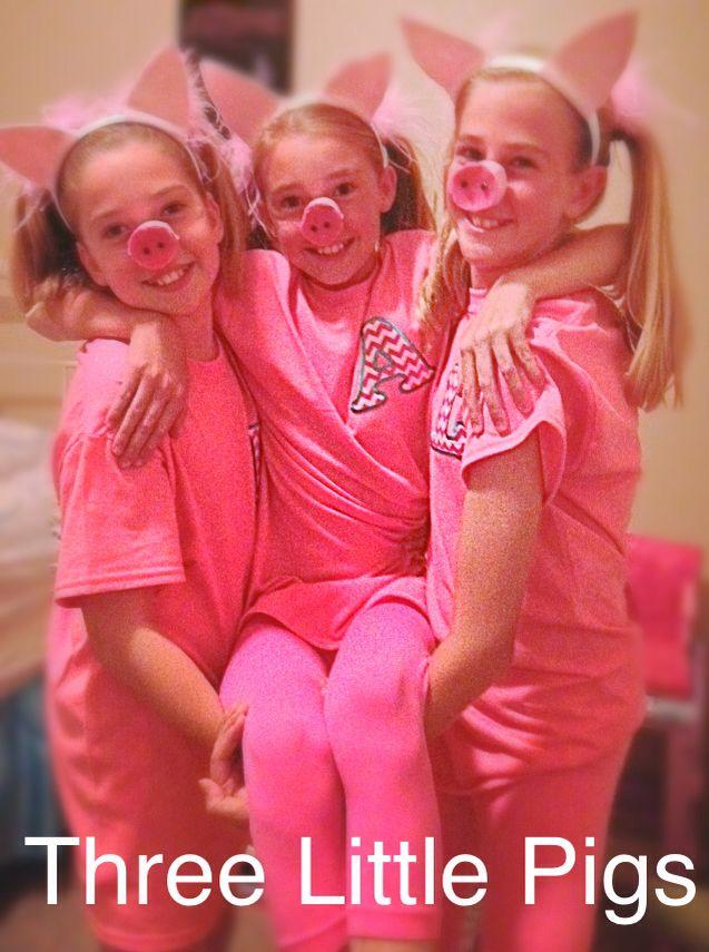 Cute Halloween costume, Three Little Pigs