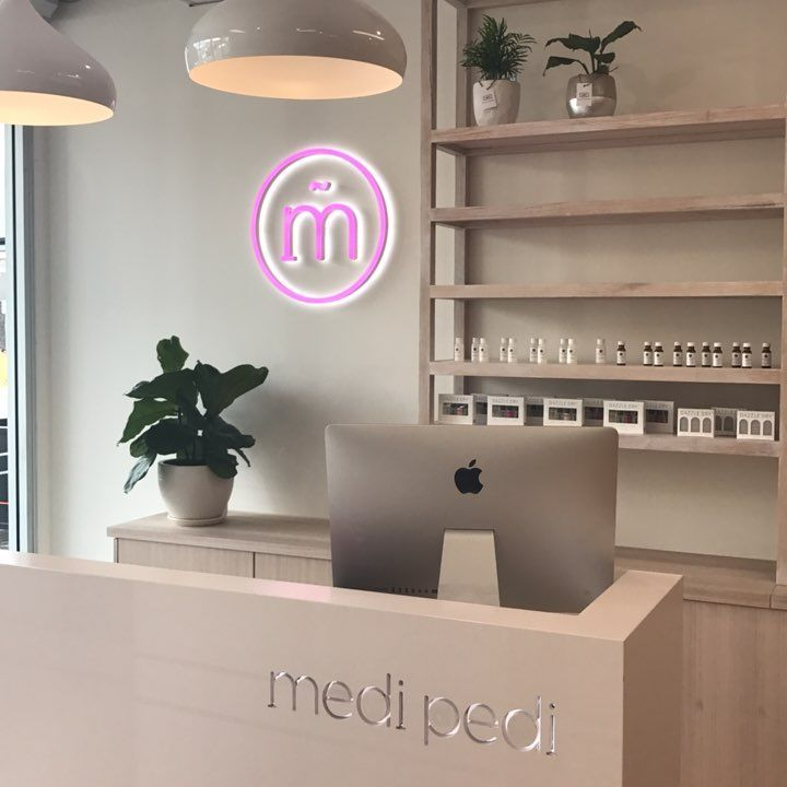 """87 Likes, 3 Comments - MediPedi Nail Spa (@medipedinailspa) on Instagram: """"We absolutely love our new reception area at MediPedi Norwood. For us choosing a booking system…"""""""
