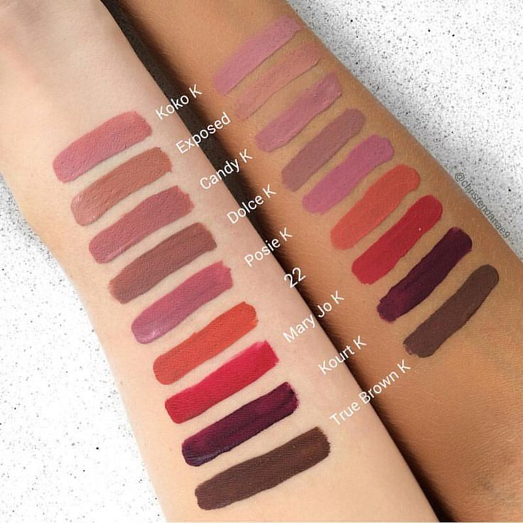 Berühmt 25+ beautiful Kylie matte lipstick swatches ideas on Pinterest  QY37