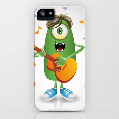 Guitarist Monster iPhone Case by MargoLand - $35.00