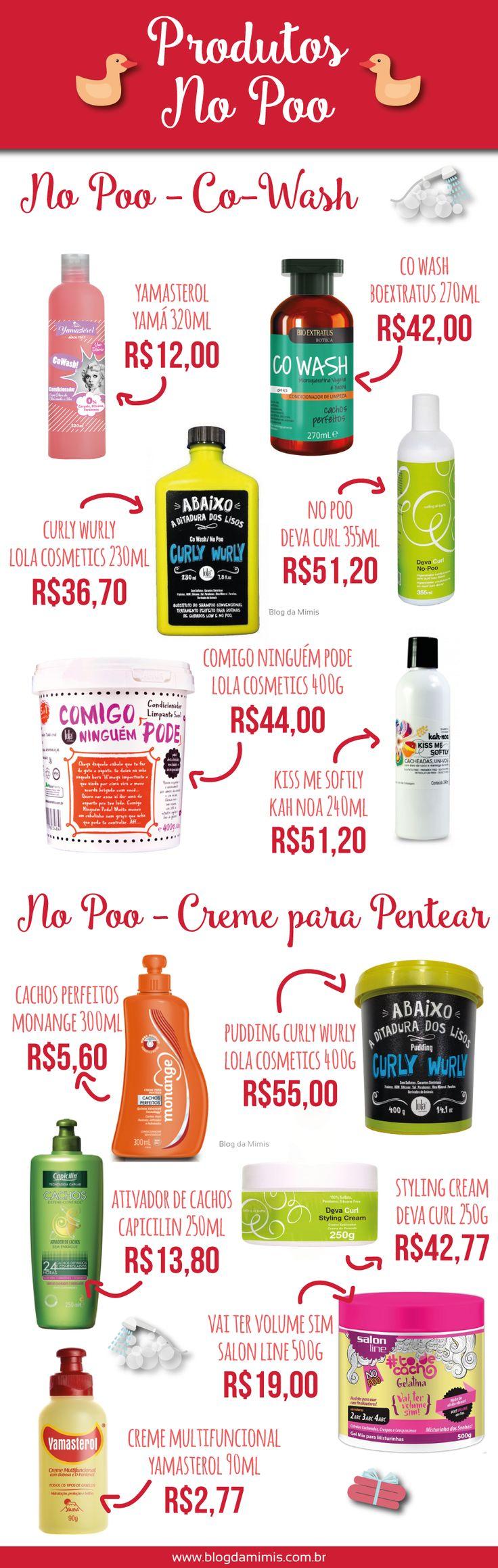 Produtos para quem quer seguir #nopoo para limpar as madeixas! #salaovirtual