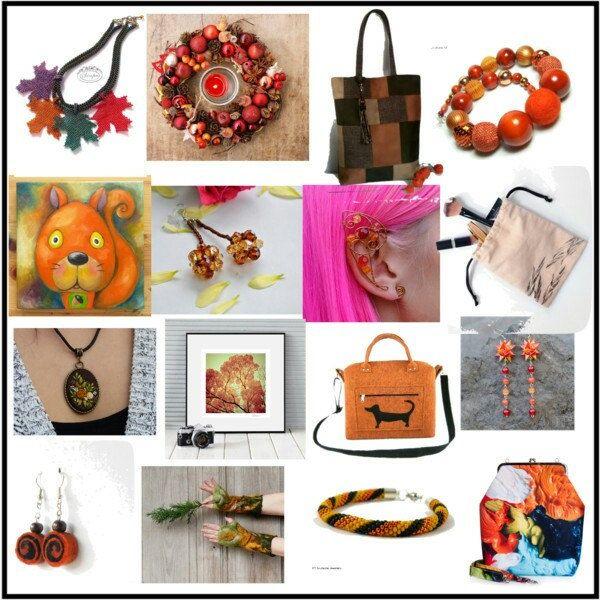 Full of color handbag. Handmade purse.