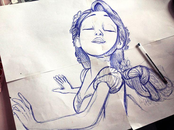 96 Rapunzel Tangled Graphite Drawing By Julesrizz On Deviantart