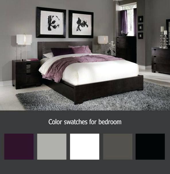Grey Purple Bedroom Nice Grey And Purple Bedroom Color Schemes