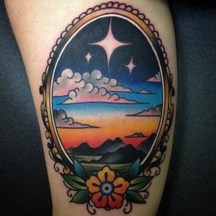 You can remember the best of times, all the time. | 33 Stunning Landscape Tattoos That Will Remind You Of Home
