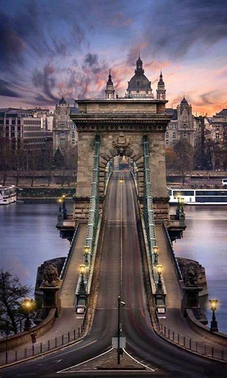 The Széchenyi Chain Bridge - Budapest, Hungary   Photo: Imre Krénn