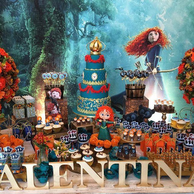 Merida para Valentina #valente #merida #princesa #princess #decoração #lorenaduquefestas ...