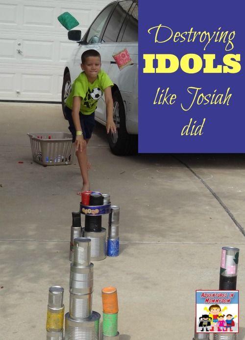 "King Josiah activity - destroying ""idols"" like King Josiah did. Fun, hands on game to review."