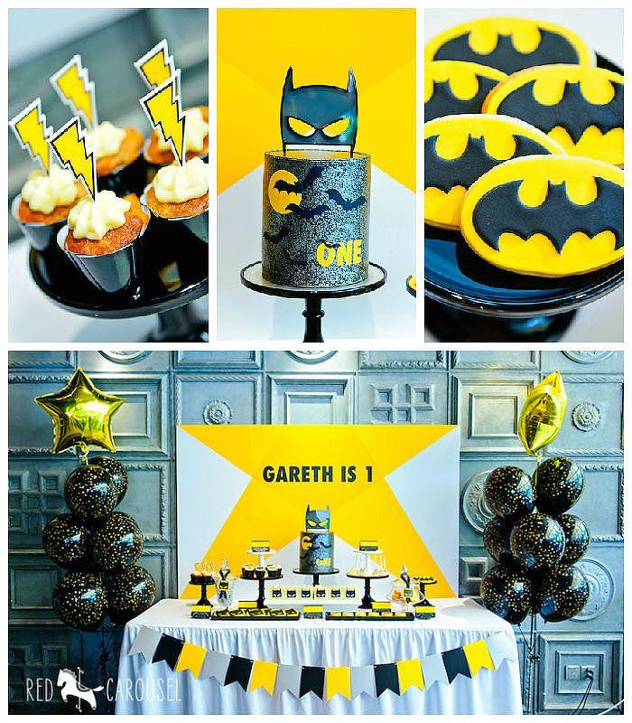 Batboy Batman-Themed Birthday Party | POPSUGAR Moms via @karaspartyideas