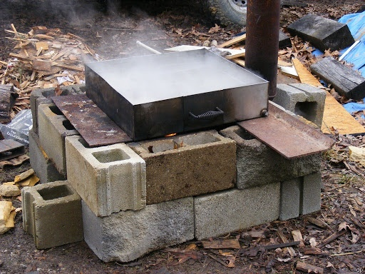 Maple Syrup Evaporator Pan Design--it takes about 40 gallons of sap for 1 gallon of syrup!