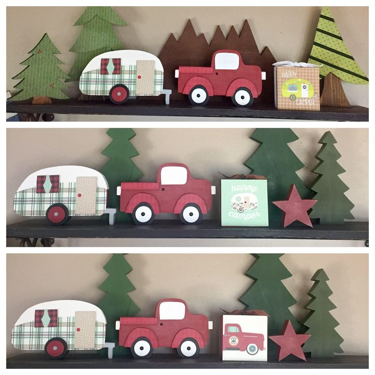 Camping Truck/Trailer 4x4 Wood Blocks - Happy Camper, Forest Ranger Truck, Camping Block, Wooden Truck, Wooden Trailer, Cabin Decor, Woodsy by Varietyislife on Etsy https://www.etsy.com/listing/546609251/camping-trucktrailer-4x4-wood-blocks