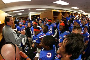 Will Muschamp addressed the media Monday. (Photo: Tim Casey)