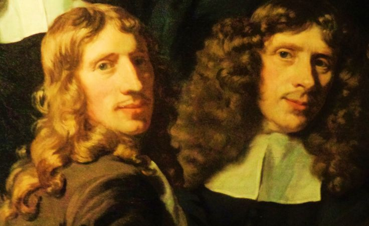 'De overlieden van het Amsterdamse chirurgijnsgilde' door Nicolaes Maes uit 1680. De afgebeelde leden van het chirurgijnsgilde hingen dit portret in de gildekamer, op de plaats van een schilderij dat een anatomische les verbeeldt. Dit velt verkeerd. Het volgende bestuur vindt het getuigen van arrogantie. Het haat in het glde immers om het ambacht en de heelkunde, niet om de bestuurders. Na steun van het stadhuis wordt het oude schilderij weer teruggehangen.