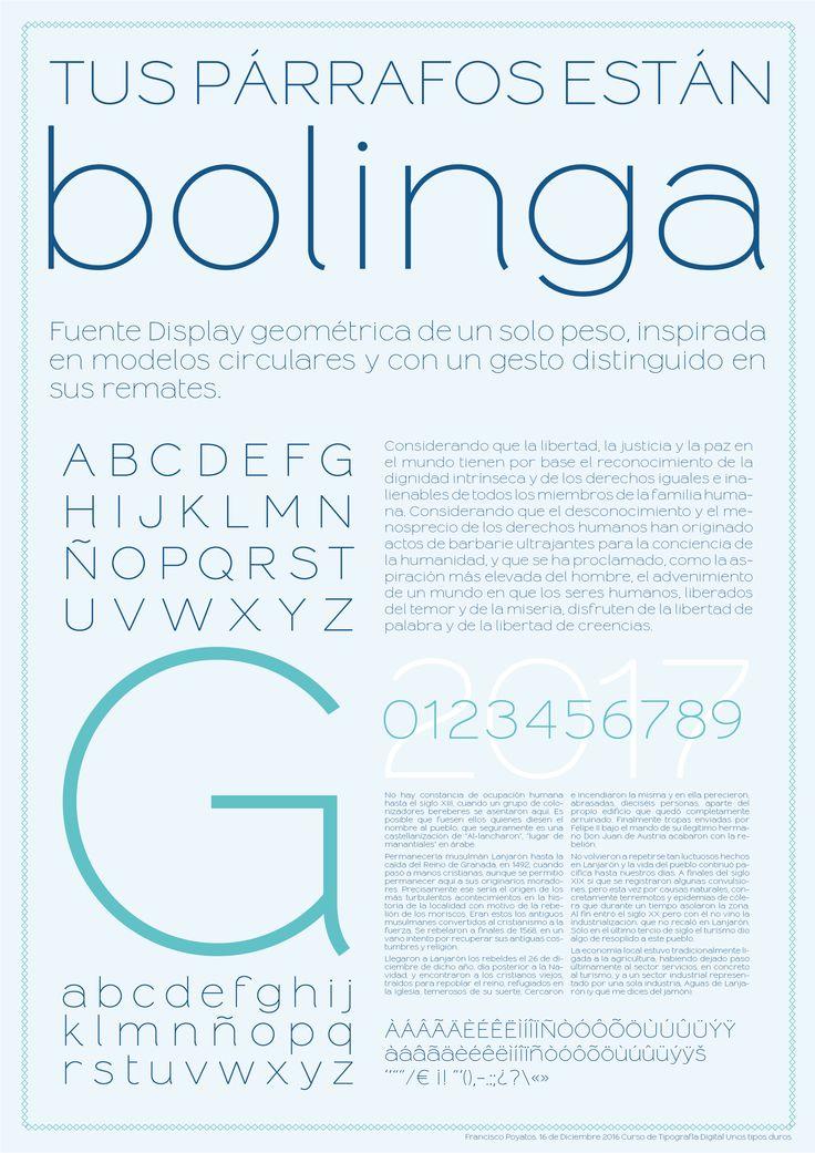 Fresh Free Font Of The Day : Bolinga