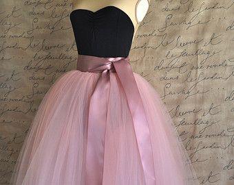 Full length sewn unlined tulle skirt. Weddings and formal wear for girls or women.