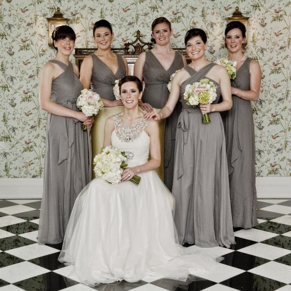 Heathers Beautiiful Bridal Party Portrait Neil Boyd Photography Carolina Inn Wedding JCrew Bridesmaid Dresses