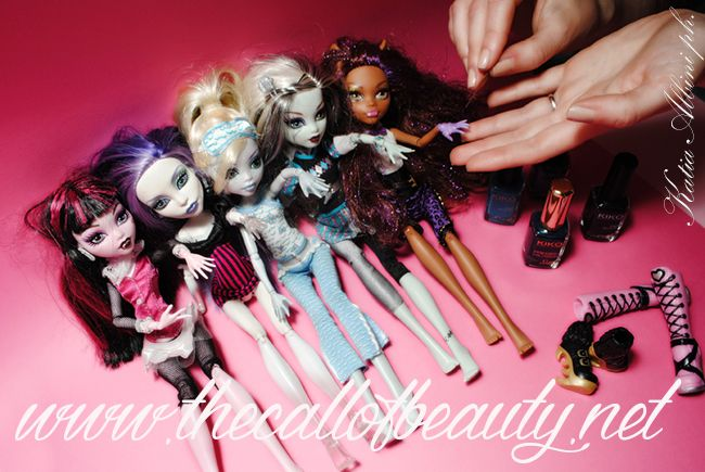 The Call of Beauty: Extreme Nail Art: Doll Manicure feat. Monster High