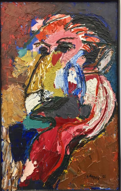 Karel Appel, Head (1956) on ArtStack #karel-appel #art