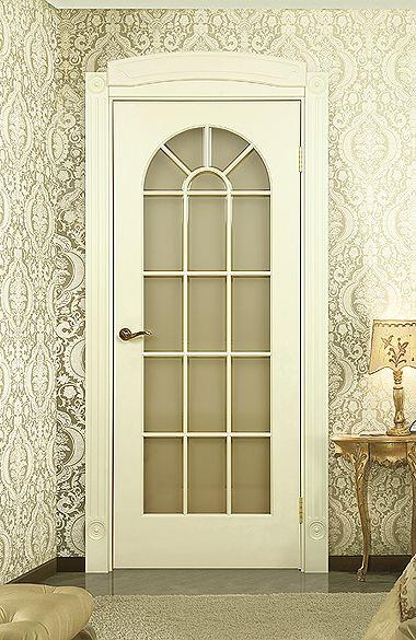 Межкомнатная дверь «Сиена В». Отделка «слоновая кость» #дверирулес #двери #межкомнатные #interiordesign #русский_лес