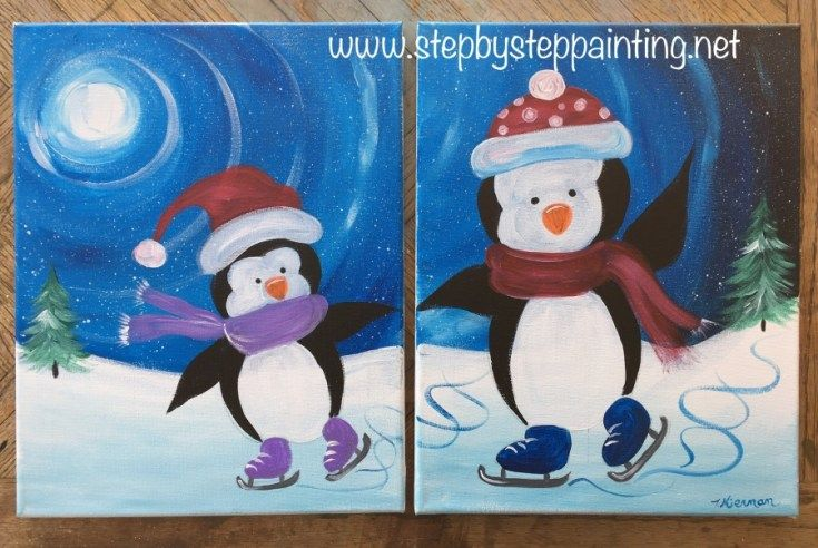 Christmas and Winter Theme Snowman /& Penguin  Brooches
