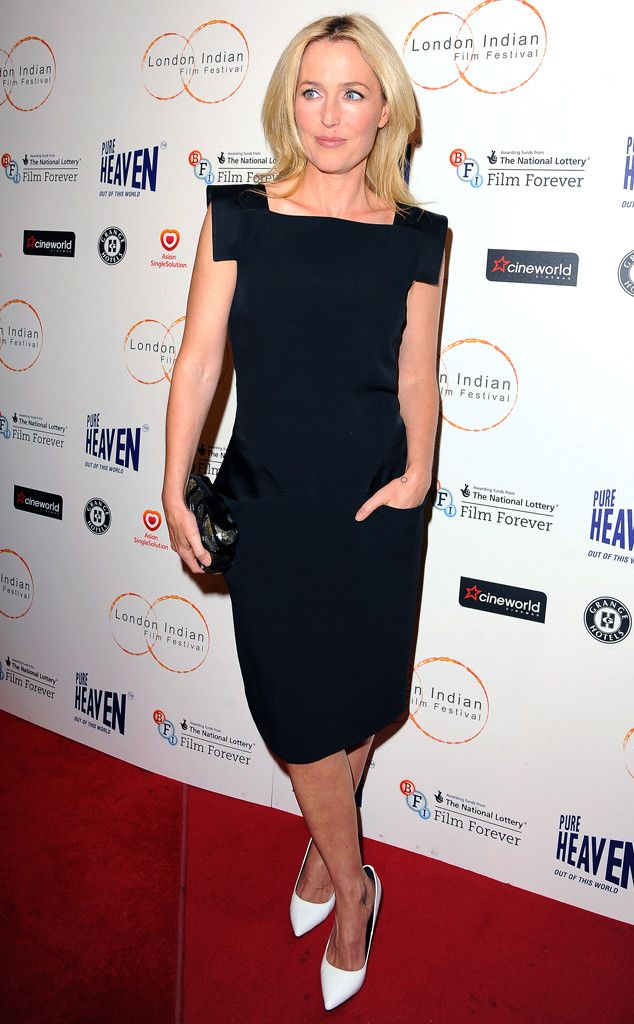 GILLIAN ANDERSON - The actress attends the London Indian Film Festival and looks fab.