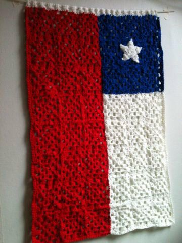 Bandera a crochet