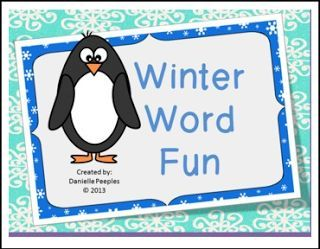 """FREE LANGUAGE ARTS LESSON - """"Winter Word Game"""" - Go to The Best of Teacher Entrepreneurs for this and hundreds of free lessons. 2nd - 3rd Grade   #FreeLesson  #LanguageArts  http://www.thebestofteacherentrepreneurs.com/2015/12/free-language-arts-lesson-winter-word.html"""