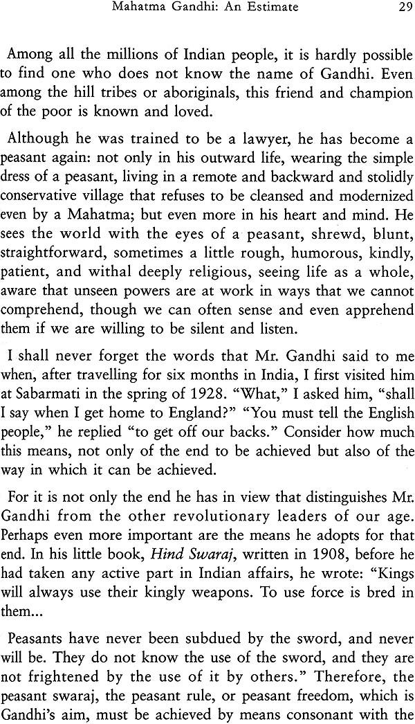 essays on ghandi Gandhi essays an eye for an eye makes the whole world blind this was the one quote that stood out to me from all of the other quotes that gandhi said in the movie.