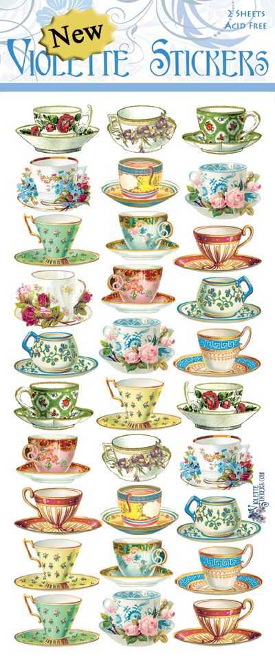 Violette Stickers P54- Mini Teacups