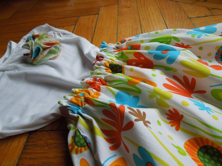 Waiting for spring: flowers and butterflies skirt