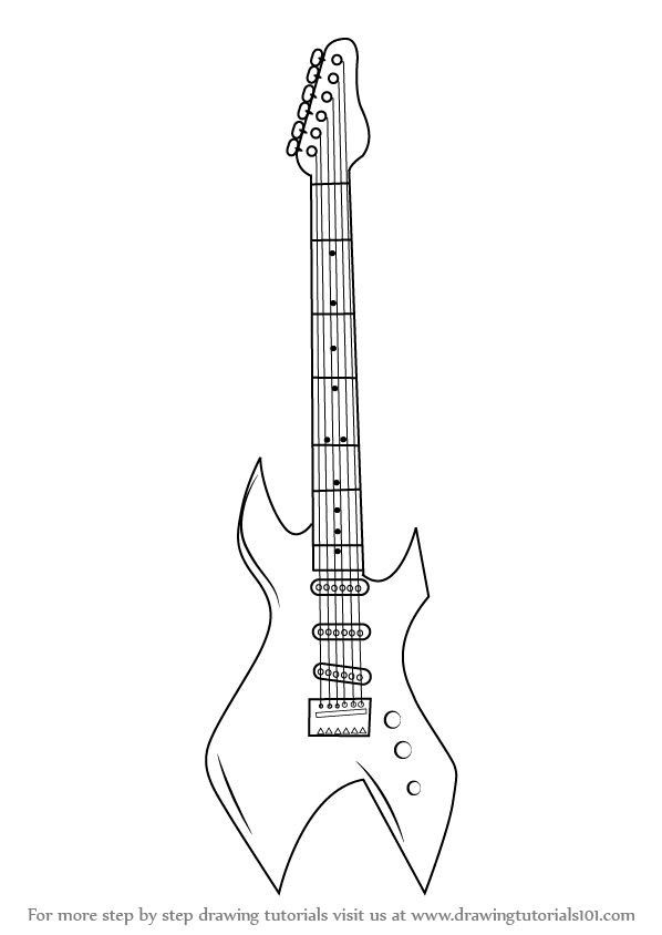 Coloring Pages Electric Guitar Guitar Drawing Guitar Sketch Guitar Outline