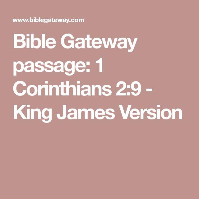 Bible Gateway passage: 1 Corinthians 2:9 - King James Version
