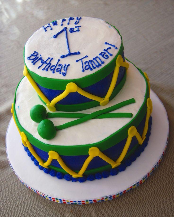 Best 20+ Drum Birthday Cakes Ideas On Pinterest