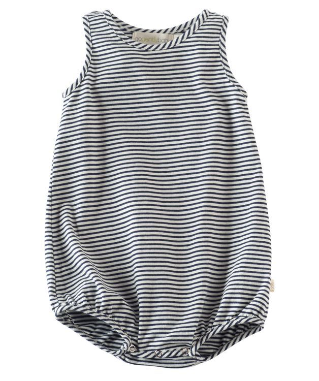 Cotton Bubble Romper - Navy Stripe, $22.00